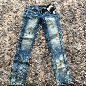 Freestyle Washed & Distressed Jeans juniors Size 9
